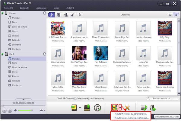 Xilisoft Transfert iPad PC