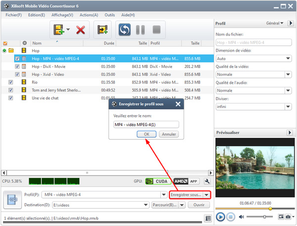 Xilisoft Mobile Video Convertisseur