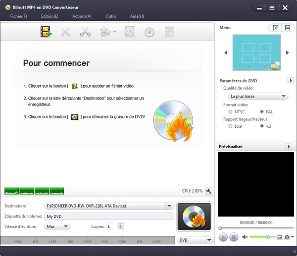 Xilisoft MP4 en DVD Convertisseur
